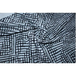 """Abstract print Scuba Knit fabric 59"""" wide-thin for fashion wear B2#83[11]"""