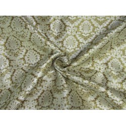 Heavy Brocade fabric cream x metallic gold color 36''wide BRO645[2]