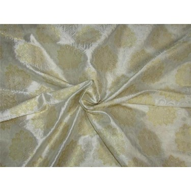 Heavy Brocade fabric Ivory x gold color 44'' wide BRO645[4]