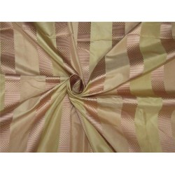 100%silk taffeta jacquard with stripe blush pink gold 54'' wideTAFJ24[3]