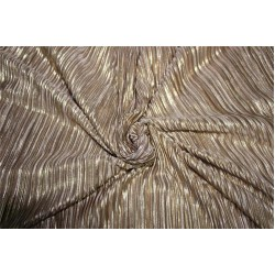 Pleated lurex Fabric nude color 60'' Wide FF1[3]