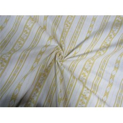 100% Cotton Rubber print fabric white and yellow color 36'' wide