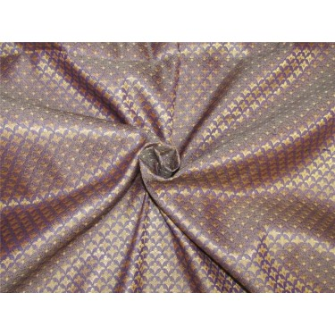 "Brocade fabric Royal blue x metallic gold color 44"" Bro637[4]"
