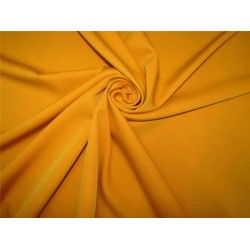 "Scuba Crepe Stretch Jersey Knit fabric 58""wide mango yellow color B2 #85[17]"