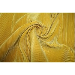 Polyester pleated fabric Golden mustard color 58'' wide FF11[2]