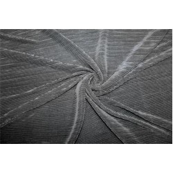Crushed polyester satin fabric charcoal grey color 59''wide FF10A[2]