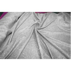 Ombre shimmer fabric lycra shaded silver and silver color 58''WIDE FF8[4]