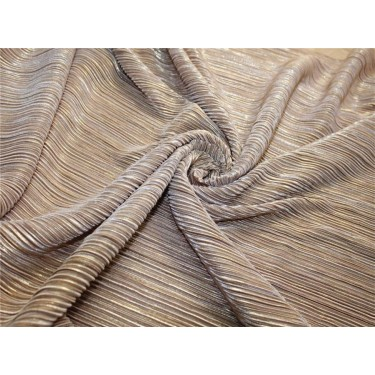 Pleated lurex Fabric gold x gold color 58'' Wide FF1[5]