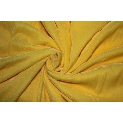 "Micro Velvet Fabric Yellow color 44"" wide"