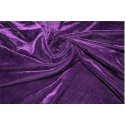 "Micro Velvet  Fabric PURPLE  color 44"" wide"