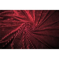 Knitted velvet stripe fabric maroon color  60'' wide FF6[3]