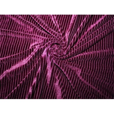 Knitted velvet stripe fabric purple color  60'' wide FF6[1]