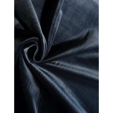 "100% cotton Velvet fabric 44""~navy blue"