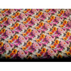 "floral print Scuba Knit fabric 59"" wide-thin for fashion wear-thick"