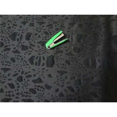 scuba Black Laser-Cut Scuba-Knit 60 inch wide