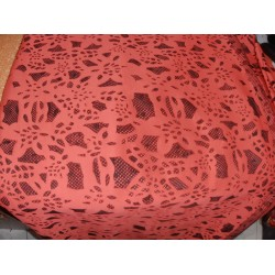 scuba peach Laser-Cut Scuba-Knit 60 inch wide