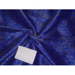 brocade fabric royal blue and ANTIQUE metalic gold BRO557[1]