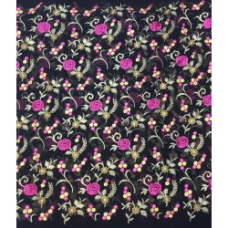 """Embroidered Viscose Georgette 44""""available in 10 colors please specify color #"""