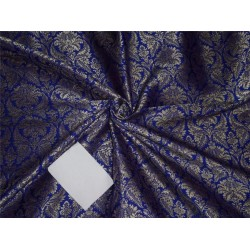 brocade FABRIC royal blue and gold BRO557[2]