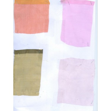 Sample swatches-4 silk organza swatches for usd$15{inclusive of airmail}