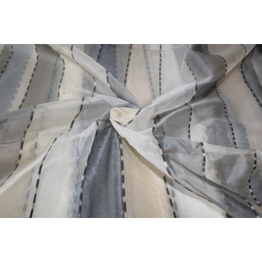 100% silk organza stripes  fabric 44""