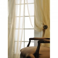 Ivory Silk Organza 108-inch wide Sheer Curtain Panel