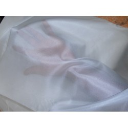 "4 x 4 natural{off white}silk organza fabric 44"" wide*"