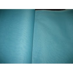 "Aqua Blue cotton organdy fabric 44"" medium finish"