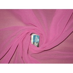 GEORGETTE FABRIC dark Pink color 44""