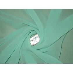 GEORGETTE FABRIC Light Sea Green color 44""
