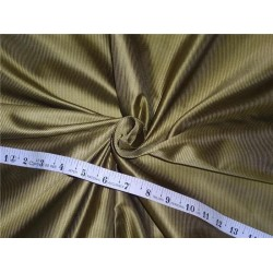"100% SILK TAFFETA FABRIC PIN STRIPE '- olive green 54"" wide sold by the yard"