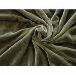 "100% cotton Velvet fabric 44""~dark forest green"