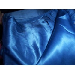 bright blue silk satin 44""