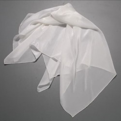 "pure silk Crepe Scarf, 42 X 42""-ivory sold by the yard"