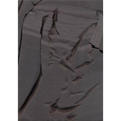 midnight grey silk chiffon 48""
