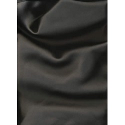 "100% Silk Satin fabric 44""-black 60 gms"