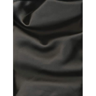"100% Silk Satin fabric 44""-black 44"" 120gms"