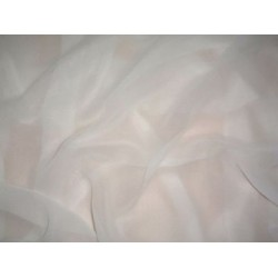 White~100%  silk chiffon fabric 44 inches wide sold by the yard
