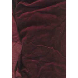 "cotton Velvet fabric 44""~dark Red Wine"