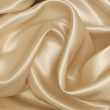 "100% Silk Satin fabric 44""-pale gold"