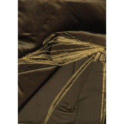 awesome dark golden brown shot Taffeta fabric~ 60