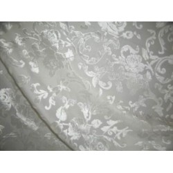 Polyester viscose burnout white Velvet fabric 44