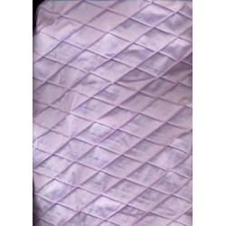 LILAC LAVENDER SILK DUPIONI pintuck Fabric {diamond }