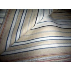 white / beige linen dobby stripes 58