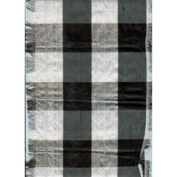 black and white dupioni plaids-under production