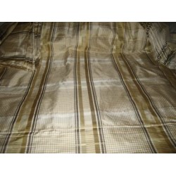 silk taffeta beige  plaids/ satin stripes 54 inches wide