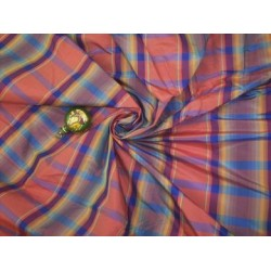 beautiful blue/peach silk taffeta plaids