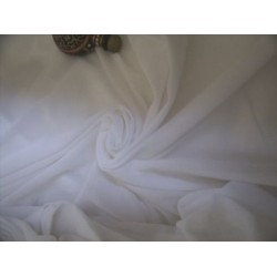 pure / soft white cotton voile  112 cms