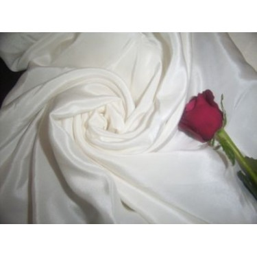 21 momme{80 grams}silk crepe-rich ivory sold by the yard
