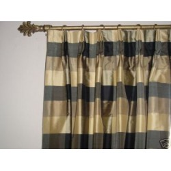 taffeta plaid drapes~made to order